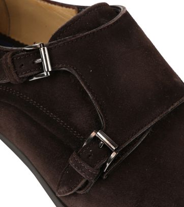 Giorgio Amalfi Shoe Monk Strap Brown Suede