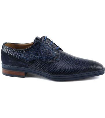 Giorgio Anaconda Leather Shoe Dark Blue