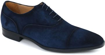 Giorgio Asiago Shoes Navy Suede