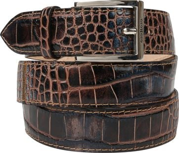 Giorgio Belt Adanti Dandy Croco Brown