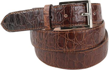 Giorgio Belt Cognac Croco Leather