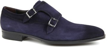 Giorgio Double Monkstrap Blu Scuro