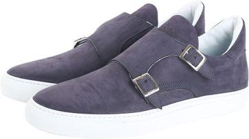 Giorgio Monkstrap Sneaker Donkerblauw Suede