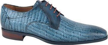 Giorgio Spina Leder Schuh Blau