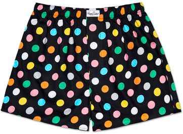Happy Socks Boxer Dots Black