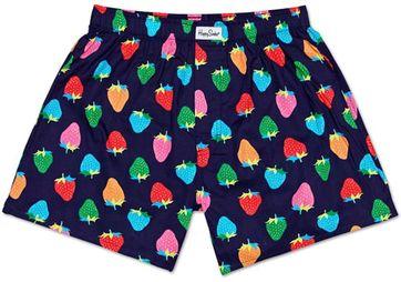 Happy Socks Boxershort Aardbeien Donkerblauw