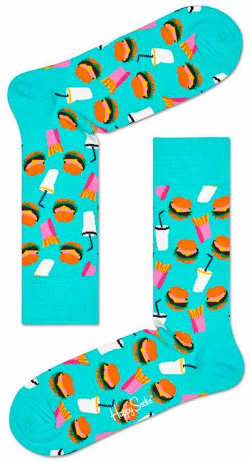 Happy Socks Burger Turquoise