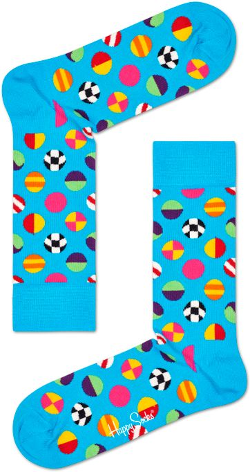 Happy Socks Clashing Dot Blauw