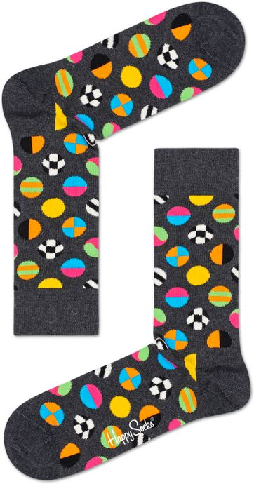Happy Socks Clashing Dot Grijs