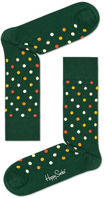 Happy Socks Dots Dark Green