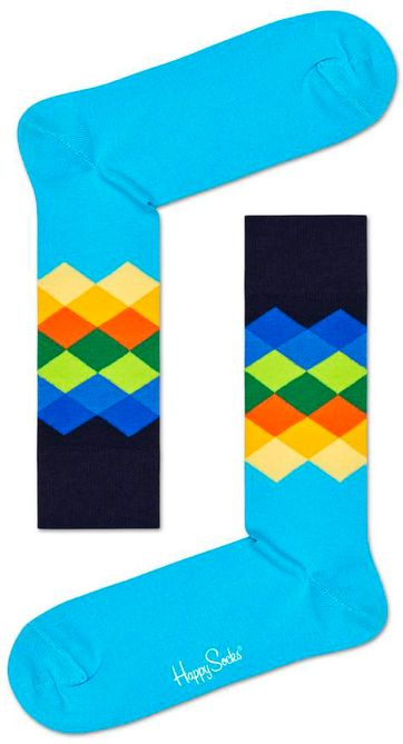 Happy Socks Faded Diamond Blauw