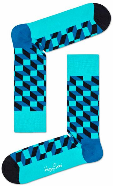 Happy Socks Filled Optic Blauw