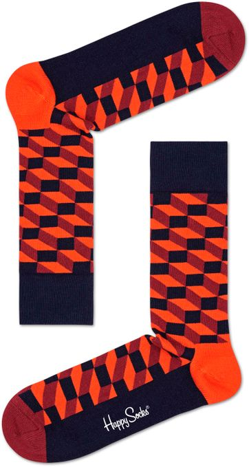 Happy Socks Filled Optic Oranje