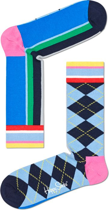 Happy Socks Half Ruiten Multicolour