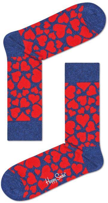 Happy Socks Hart Rood