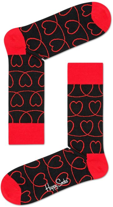 Happy Socks Red Hearts