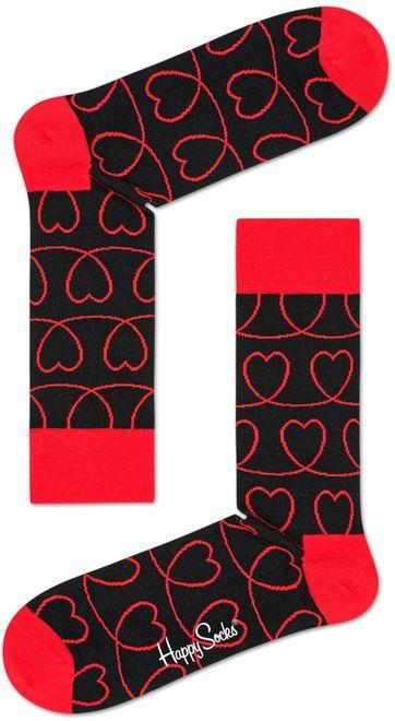 Happy Socks Rote Herzen