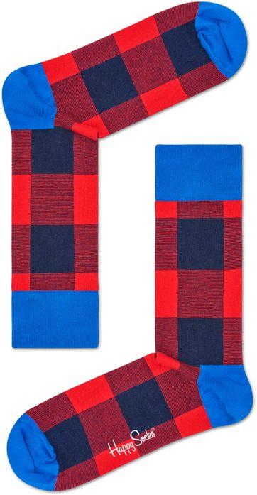Happy Socks Rote Quadrate
