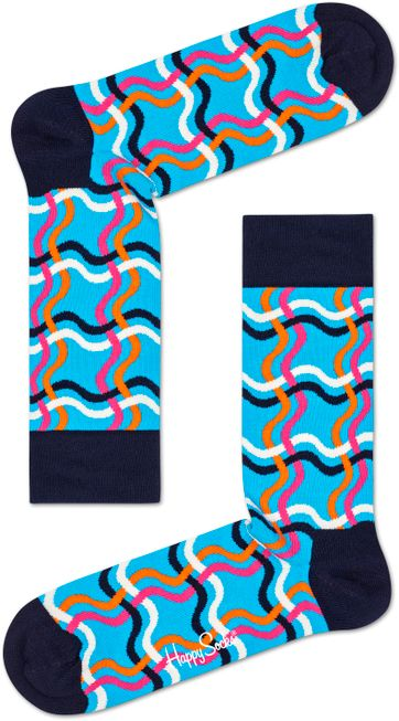 Happy Socks Squiggly Blau