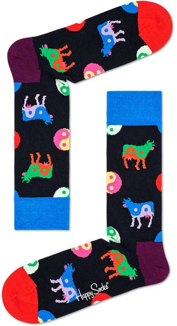 Happy Socks Ying Yang Cow Multicolour