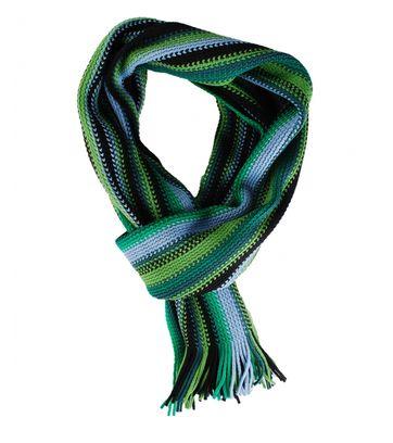 Heren Sjaal Green Blue Stripe 01