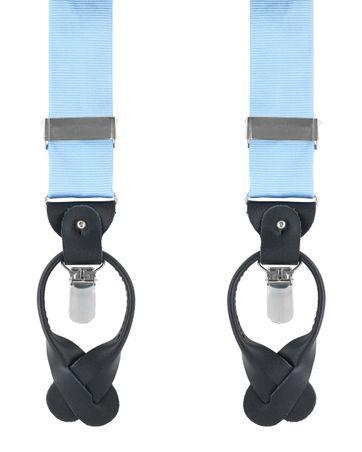 Hosenträger Seide Blau F02