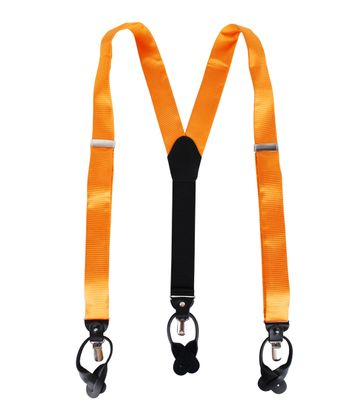 Hosenträger Seide Orange F01