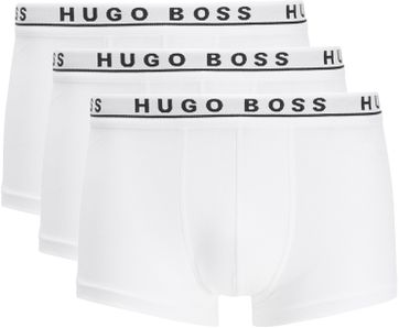 Hugo Boss Boxershorts Trunk 3-Pack Weis