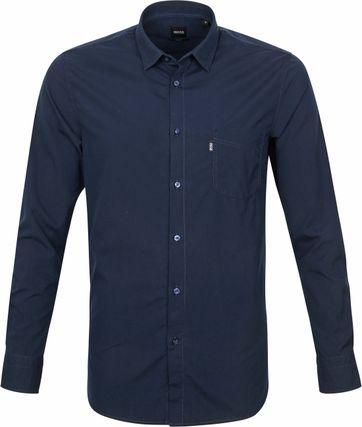 Hugo Boss Overhemd Magneton Donkerblauw