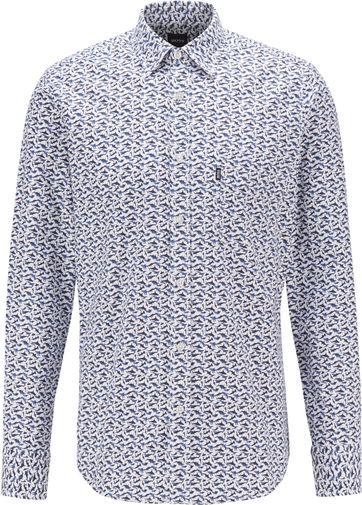 Hugo Boss Overhemd Relegant Donkerblauw