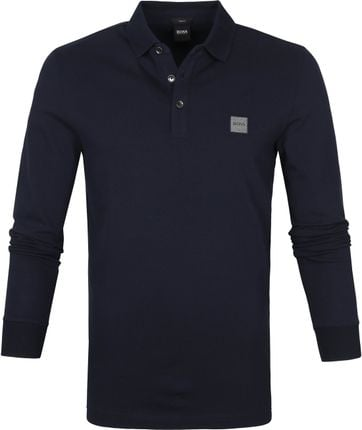 Hugo Boss Polo LS Passerby Donkerblauw
