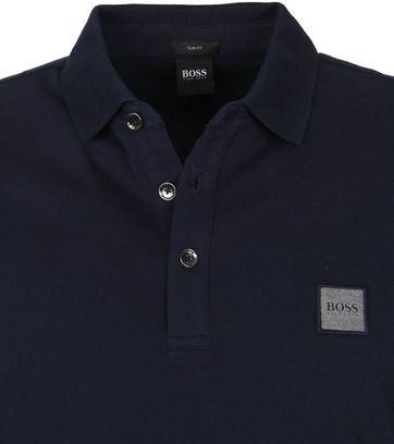 Hugo Boss Polo LS Passerby Donkerblauw
