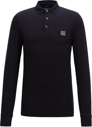 Hugo Boss Poloshirt LS Passerby Black