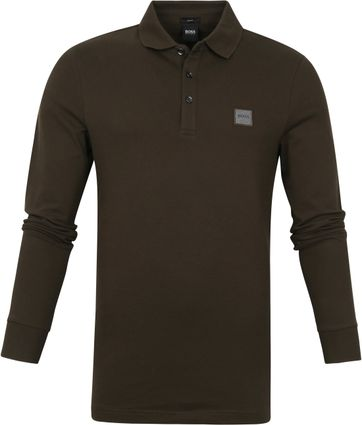Hugo Boss Poloshirt LS Passerby Dark Green