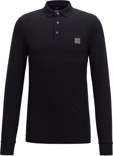 Hugo Boss Poloshirt LS Passerby Schwarz