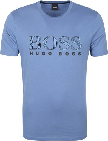 Hugo Boss T-shirt Logo 21 Blauw