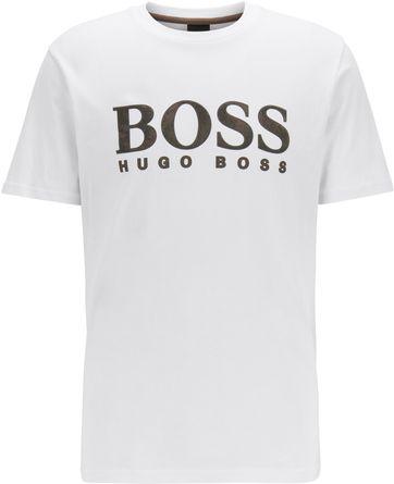 Hugo Boss T Shirt Logo 21 Weis