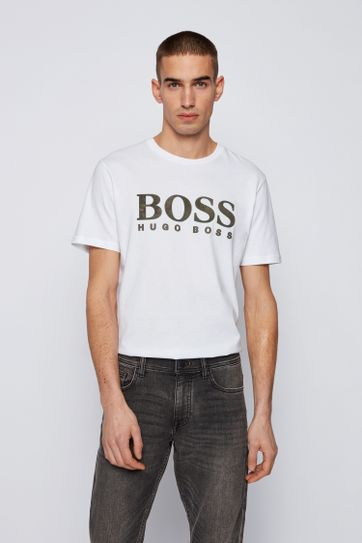 Hugo Boss T-shirt Logo 21 Wit