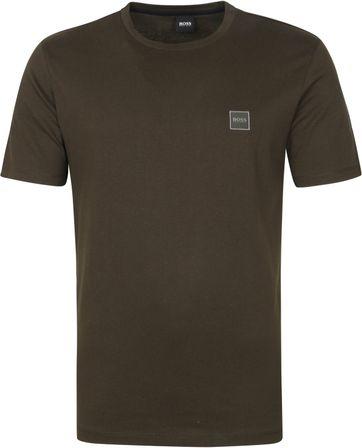 Hugo Boss T-shirt Tales Donkergroen