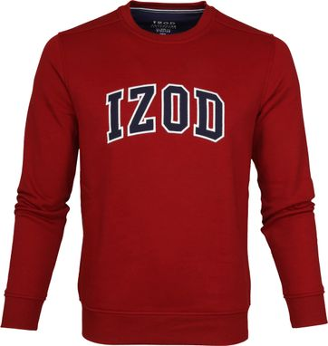 IZOD Fleece Sweater Sport Flex Red