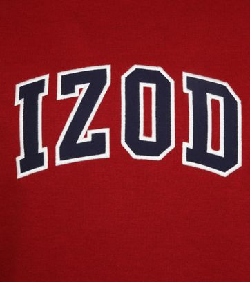 IZOD Fleece Sweater Sport Flex Rood