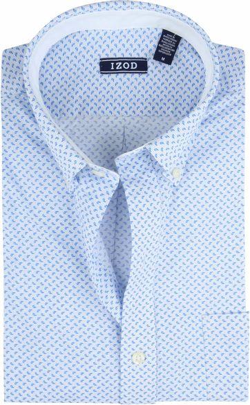 IZOD Hemd Druppels Blauw