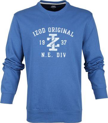 IZOD Lässiger Pullover Blau