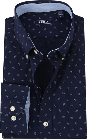 IZOD Overhemd Paisley Navy