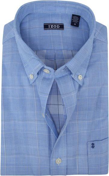 IZOD Overhemd Ruit Lichtblauw