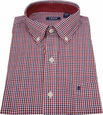 IZOD Overhemd Ruit Rood