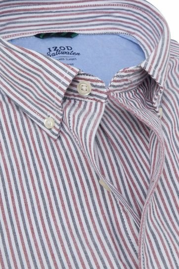 IZOD Shirt Stripes Red