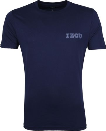 IZOD T-shirt Basic Tee Dunkelblau