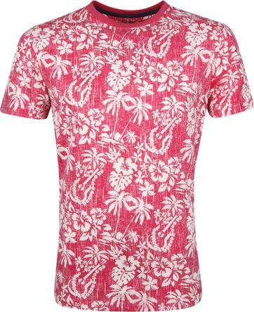 IZOD T-Shirt Blumen Rosa