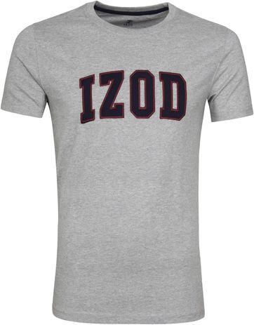 IZOD T-shirt Logo Tee Grau
